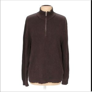 Calvin Klein Mens Ribbed XL Brown Sweater - New!